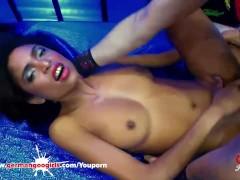 Black babe Luna Corazon loves Sperm - German Goo Girls
