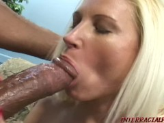 Huge boob Mom takes big black cock