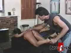 Tempting lesbian Careena Collins dominated by older maledom