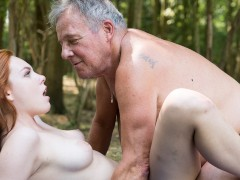 - Sexy young redhead seducing grandpa and has incredible sex with him/><br/>                         <span class=