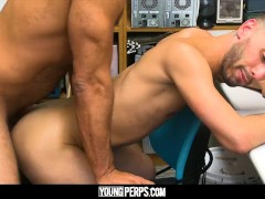 YoungPerps - Punk punished by daddy with bareback fuck