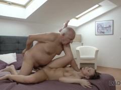 Daddy4k. slutty girl fucked by horny old dad behind boyfriend's back