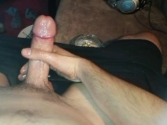 Playing with my small but superhard cock