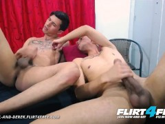 Danniel and Derek on Flirt4Free - Big Dicked Latino Twinks Enjoy Rough Barebacking and Rimming