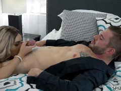 Spizoo - Big booty Aaliyah Hadid is fucked by a huge cock, big boobs