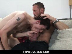 FamilyDick - Muscle stepdad seduced for allowance money