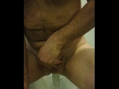 My painful gay handfree orgasm with big object