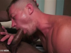 Muscular marine sucking Big Black Cock