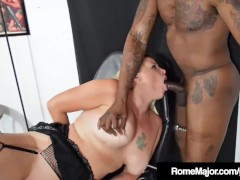 Black Bull Rome Major Slams Blonde Slut Pinky 702!