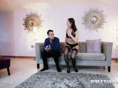 Private.com - Beautiful Blue Angel fucks in a hot lingerie