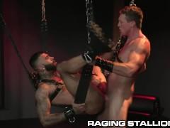 RagingStallion Hunk Big Dick Fetish Daddy Fun With Cute Latino