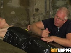 Sebastian Kane makes his restrained twink cum blast