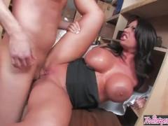 Twistys - Big tit teacher Kerry Louise deep throats a cock