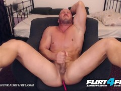 Flirt4Free Model Adonis Hunk - Muscle Stud Bondage Torture Before Hot Cumshot