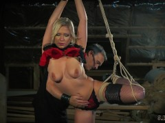 Teen bondage sex slave pleasing her master's whip