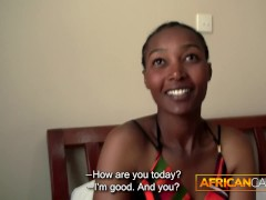 African girl takes white dick
