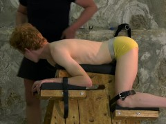 Red hair sub twink sucks dick and gets dominated over