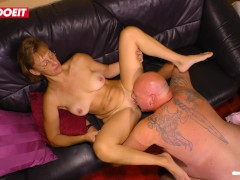 LETSDOEIT - Horny German Amateur MILF cheats and fucks her boss