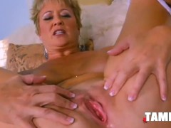 Meaty Blonde Rubbing Her Old Snatch