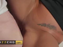 Brazzers - Slutty milf teacher Stacey Saran dominates younger student and his big dick