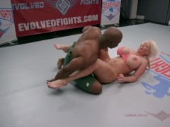 Alura Jenson and WIll Tile go at their wrestling match only like the Navy and Marines can