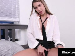 Almost Teen Step Mom Kimber Lee Jizzed On Face By Step Son!