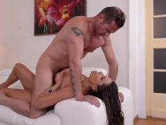Milf goddess Sensual Jane gets her big tits & pussy fucked by two studs