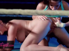 Twistys - Let's Get Ready to Squirrrrrt, lesbians fighters train hard