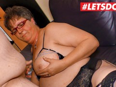 LETSDOEIT - Chubby German Gilf Takes it Raw From Her Neighbor