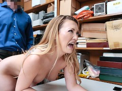 ShopLyfter - Blonde Bimbo Gets CAUGHT and Stripped Down