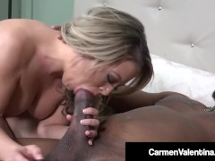 Dick Loving Carmen Valentina Slammed By Big Black Cock!
