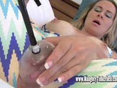 Busty blonde Tinkerbell gets pumped up pussy fucked by hotel porter and his spunk
