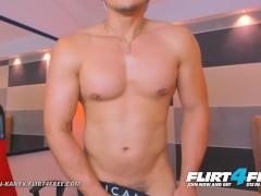 Flirt4Free Model Morgan Kanex - Muscular Guy Next Door Fondles His Tight Hole