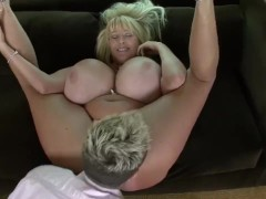 Mega Titty Cougar Playing With Cock