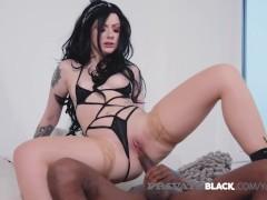 PrivateBlack- Sexy Hot Alessa Savage Fucks Black Cock On Cam