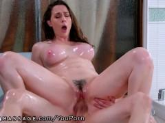 NuruMassage PAWG Stepmom Creeps on Stepson in Shower!