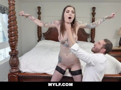 MYLFDOM - Tatted Up Hottie Tied Up For Hard Rough Fuck