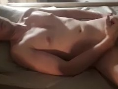 Ginger with small dick cumming hard!
