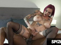 Hot Tattooed redhead loves Big Black Cock (Anna Bell Peaks) - Spizoo