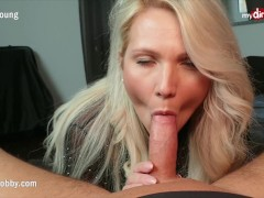 MyDirtyHobby - Busty MILF step-mom deepthroats and facialized