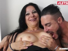 LETSDOEIT - Chubby Italian Milf Fucked Hard In Her First Porn Video