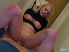Public Agent Sexy blondes tight shaven pussy filled with cum
