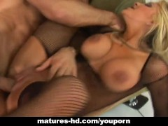 Mature slag Carmel Moore gets her pussy smashed