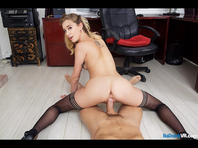 Badoinkvrcom pov office fuck with hot blonde haley reed 4