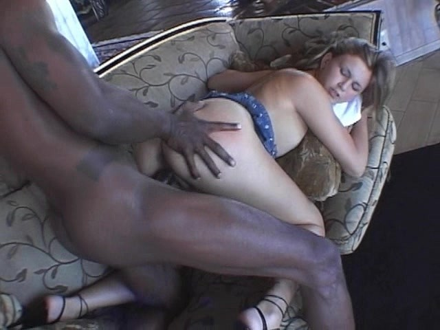 Black dicks in white slits