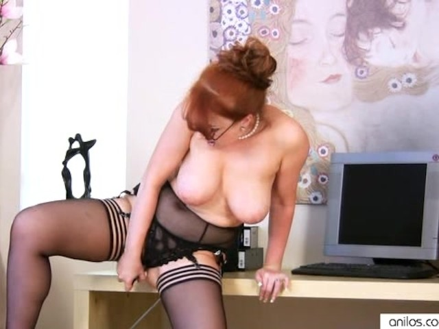 Horny Redhead Milf Solo Masturbation With Toy - Free Porn -7425