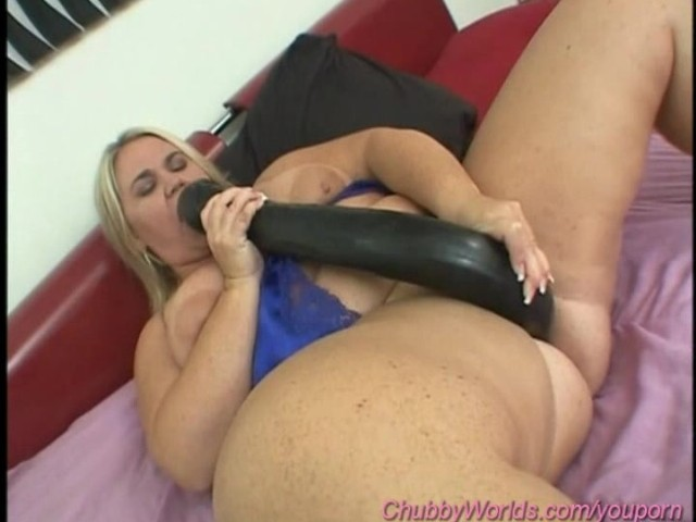Girl takes giant dildo