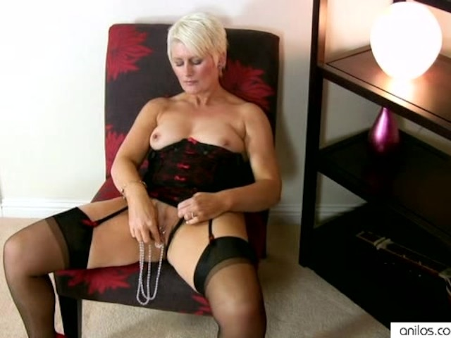Horny Milf In Lingerie Fucks Her Beads - Free Porn Videos -2316
