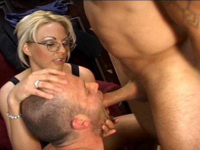 Making a cuck suck your cock