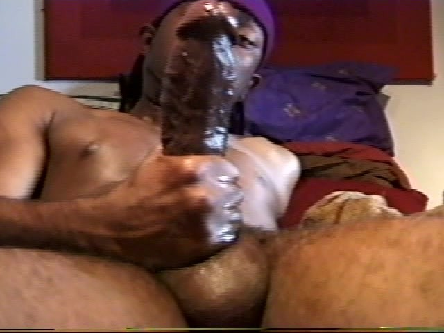 Long Black Dick Jerking